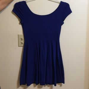 Dark blue skater dress
